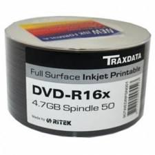 Ritek Full Face Printable 16X 4.7GB DVD-R, 50pk Spindle