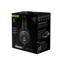 Razer Kraken 7.1 Chroma Surround Sound USB Black Gaming Headset