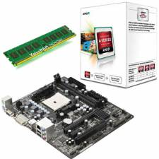 AMD A4 Dual Core 3.2GHz CPU Starter Bundle - 4GB DDR3 RAM - AMD FM2 mainboard with RADEON HD Graphics Motherboard Bundle