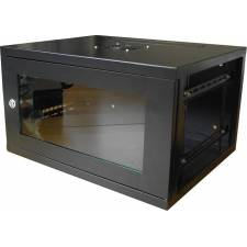 6U 450mm 19inch Data Comms Rack Wall Cabinet - Black