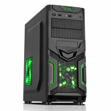Green Goblin Mesh Gaming Case Black/Green Interior USB3 12cm Green LED (NO PSU)