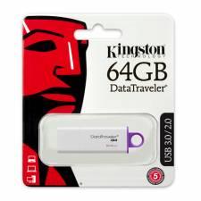 Kingston 64GB USB 3.0 DataTraveler G4 Flash Drive (DTIG4/64GB), Retail