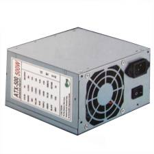 500Watt ATX PSU 24+4pin 12CM Fan, White Boxed