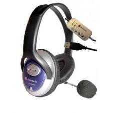 Dynamode DH660 USB Powered Skype Compatible Headphones with Microphone