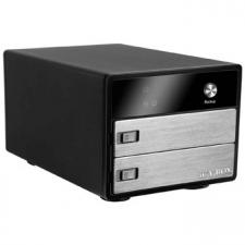 IcyBox IB-3221STU-B 2x 3.5inch SATA Hard Disk to USB2.0 Aluminum Trayless Enclosure
