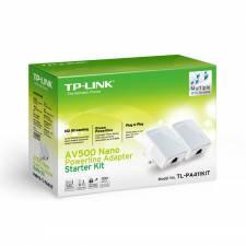 TP-Link TL-PA411KIT AV500 Nano PowerLine 500Mbps Homeplug Kit - Twin Pack