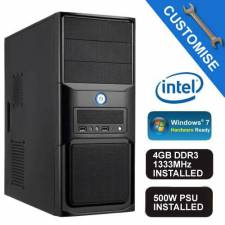 Intel Core i3 3.6Ghz - 4GB DDR3 RAM - Gigabyte Intel H81 VGA/Sound/LAN Motherboard - 500W Midi Tower - Barebones System Kit
