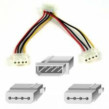 4Pin Internal Power Y Splitter Cable - Molex 1 to 2 Lead