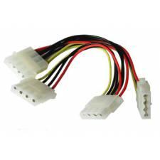 4Pin Molex Internal Power Y Splitter Cable - Molex 1 to 3 Lead