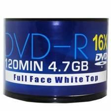 Aone 16X 4.7GB DVD-R, 50pk Cellowrap White Top