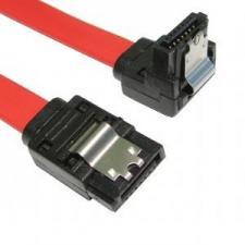 Right Angle SATA Plug To Straight SATA Plug Cable Lead 45cm - Locking Clip