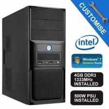 Intel Core i3 3.6Ghz - 4GB DDR3 RAM - Gigabyte Intel H81 VGA/Sound/LAN Motherboard - 500W Midi Tower - Barebones System Kit